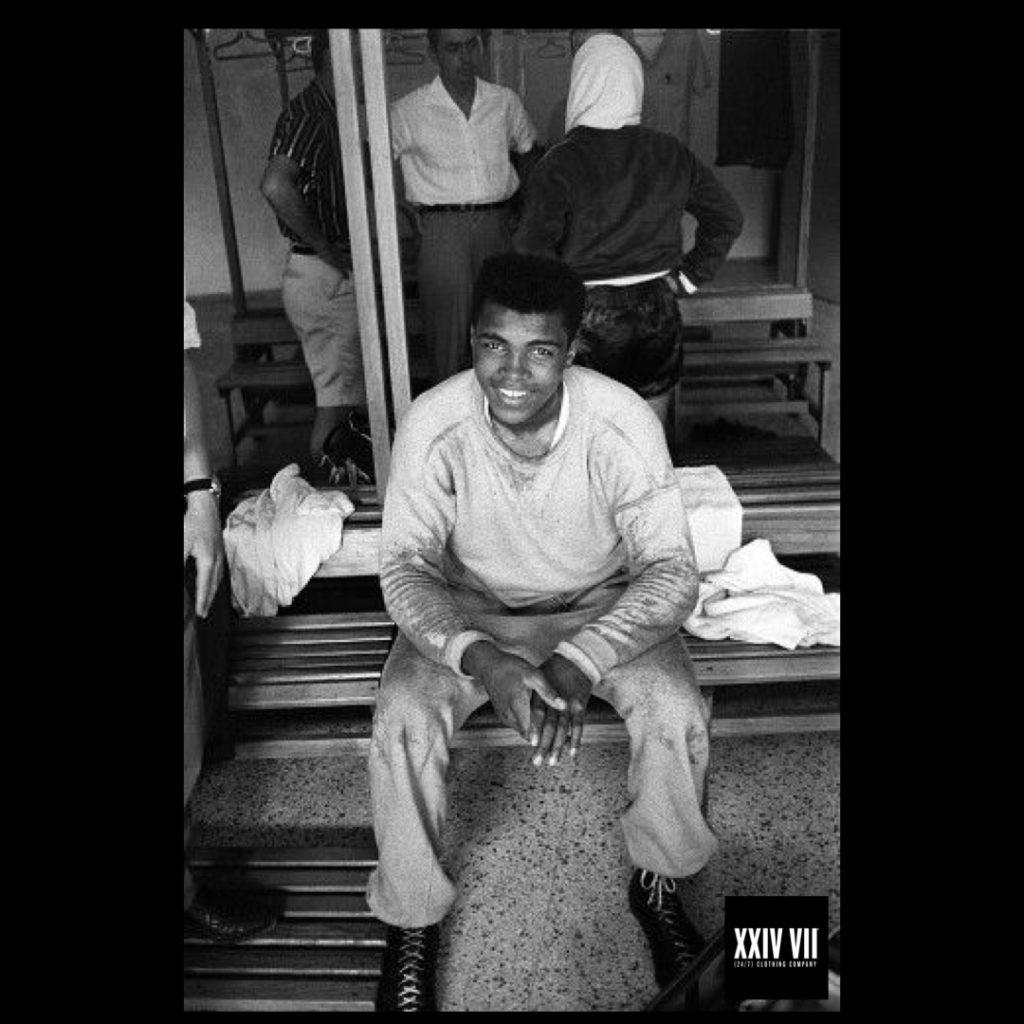 Cassius Clay (Muhammad Ali) inside gym