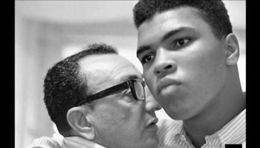 Cassius Clay with Angelo Dundee