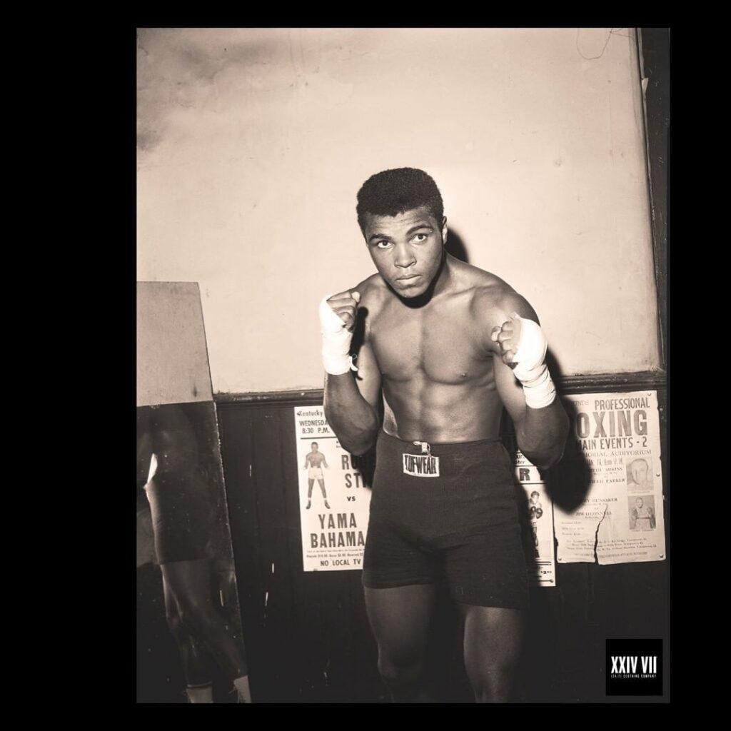 Cassius Clay training
